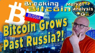 Bitcoin Blows Past Russia On It's Way To 10K - Trillion $$$ Market Cap Here We Come!