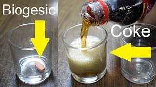 Coke + Paracetamol (Medicine) | Science Experiment