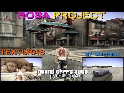 GTA PACK DE TEXTURAS ROSA PROJECT Versão By Oliveira RESSUBD PARA GTA SAN ANDREAS FULL HD 1080p
