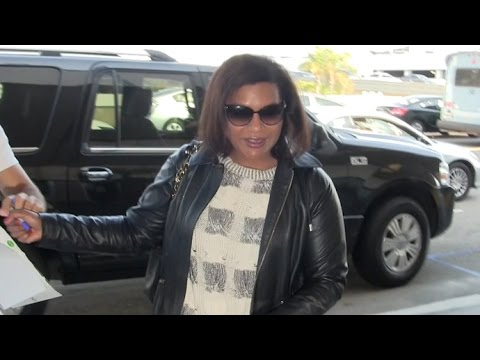 Mindy Kaling Jets Out Of LAX After Reuniting With Ex BJ Novak