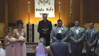 Bride Sings down aisle Husbands Reaction!!