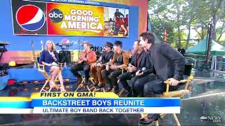 Backstreet Boys Reunion Boy Band Back After Six Year Hiatus  Video (Interview)