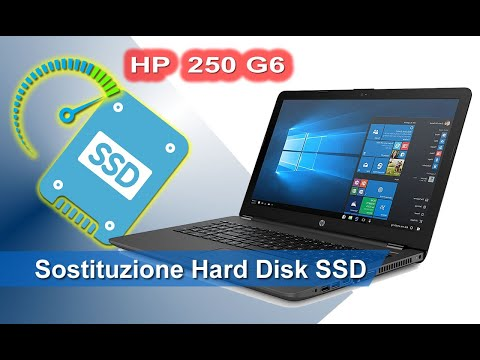 HP 250 G6 sostituzione hard disk con SSD - Hard disk replacement