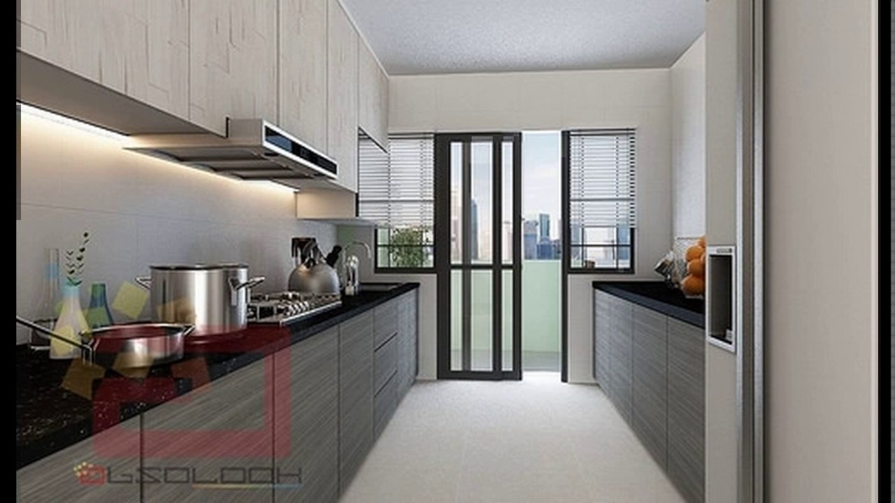 Hdb kitchen cabinet design singapore youtube Kitchen door design hdb