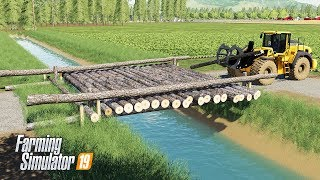 How to Build Log Bridge in Farming Simulator 19 - FS19 Construction and Building Mods
