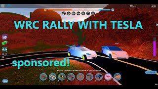 WRC RALLY WITH TESLA!! AWESOME!!! SPONSORED!! (ROBLOX)