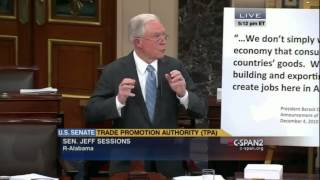 U.S. Senator Jeff Sessions: Trade Promotion Authority Legislation Is Not Good For Americans Free HD Video