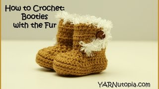 How to Crochet Booties with the Fur