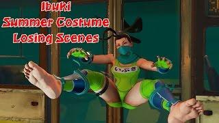 Ibuki summer costume losing scenes! | Ibuki Mod | Street Fight…