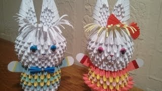 How To Make 3d Origami Bunny