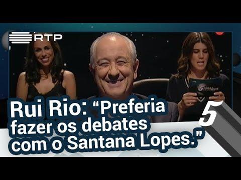 """Rui Rio: """"Preferia fazer os debates com o Santana Lopes."""" - 5 Para a Meia-Noite"""