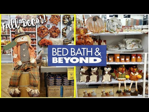 SHOP WITH ME * BED BATH AND BEYOND FALL DECOR KITCHEN DECOR 2019