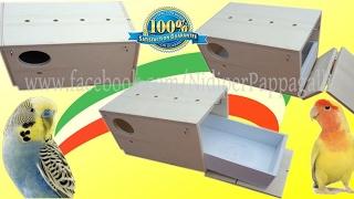 NIDO PER PAPPAGALLI con Cassetto Estraibile FOREX-PVC Lavabile HD