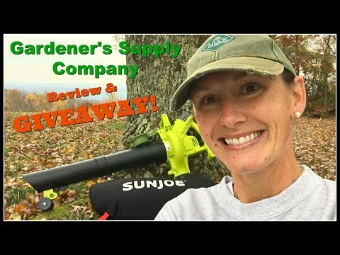 GIVEAWAY! Portable Leaf Blower/Mulcher/Vacuum by Gardener's Supply Company!