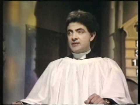 Not the nine oclock news - Rowan atkinson angry priest