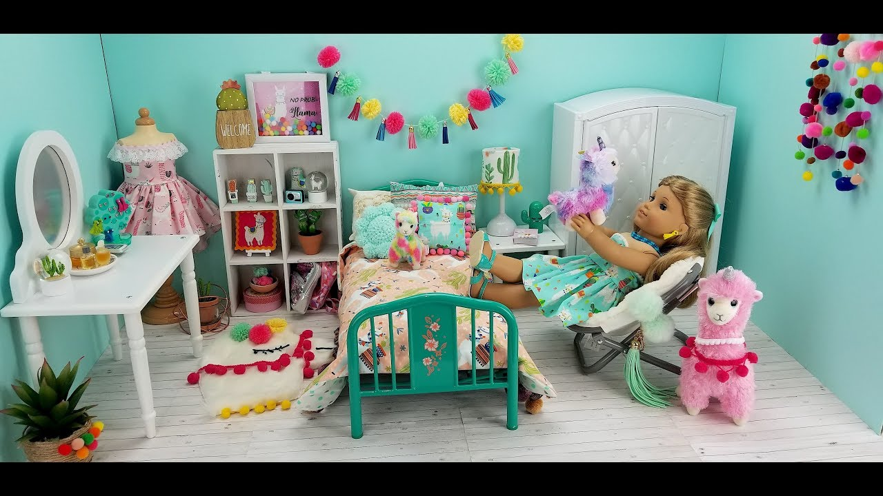 Llama Bedroom For American Girl Doll Youtube