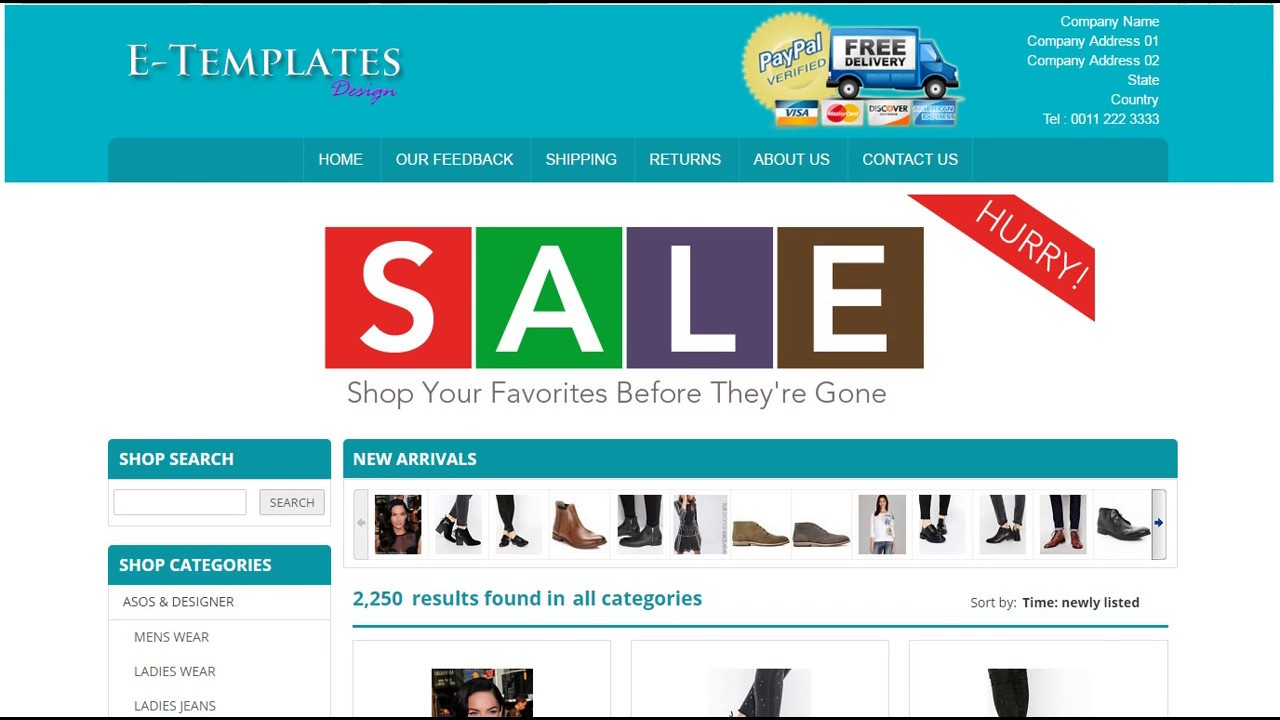 Mobile Responsive eBay Store Template - YouTube