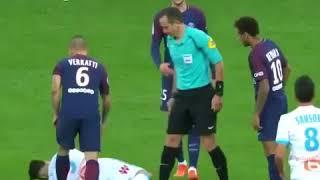 فيديو.. طرد نيمار للمرة الأولى مع باريس سان جيرمان