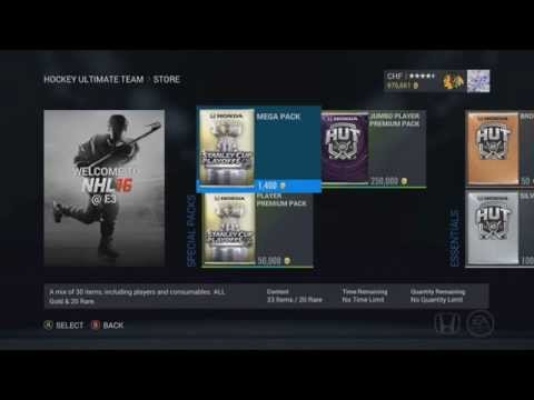 """NHL 16 HUT PREVIEW """"New HUT Cards, Packs, and more!"""""""