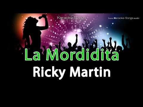 "Ricky Martin ""La Mordidita"" Instrumental Karaoke Version with vocals and lyrics"