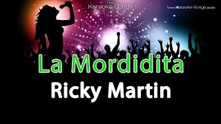 "Ricky Martin ""La Mordidita"" Instrumental Karaoke Version with vocals and lyrics"