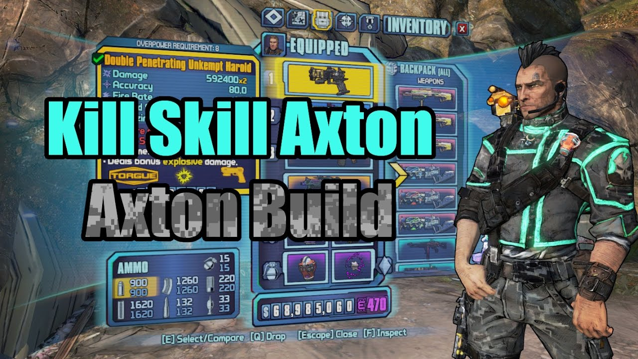 Borderlands 2: Kill Skill Axton (Revisited) - Build Showcase (w/ Download)
