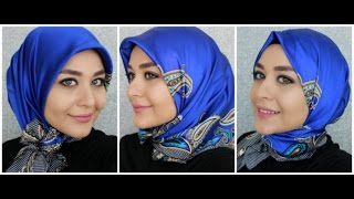 3 Turkish Inspired Hijab Styles - Square Silk Scarf from Armine | Muslim Queens by Mona