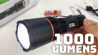 EBL AL35 Rechargeable 1000 Lumens Cree XPL LED Handheld Flashlight Review