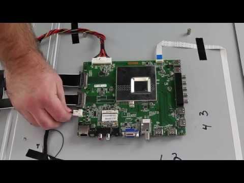 Vizio TV Repair - E601i-A3 Main Board Replacement for No Picture - No Sound, bad HDMI, No Internet
