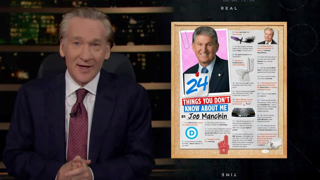 24 Things You Don't Know About Joe Manchin | Real Time with Bill Maher (HBO)