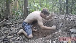 печка своими руками  в лесу