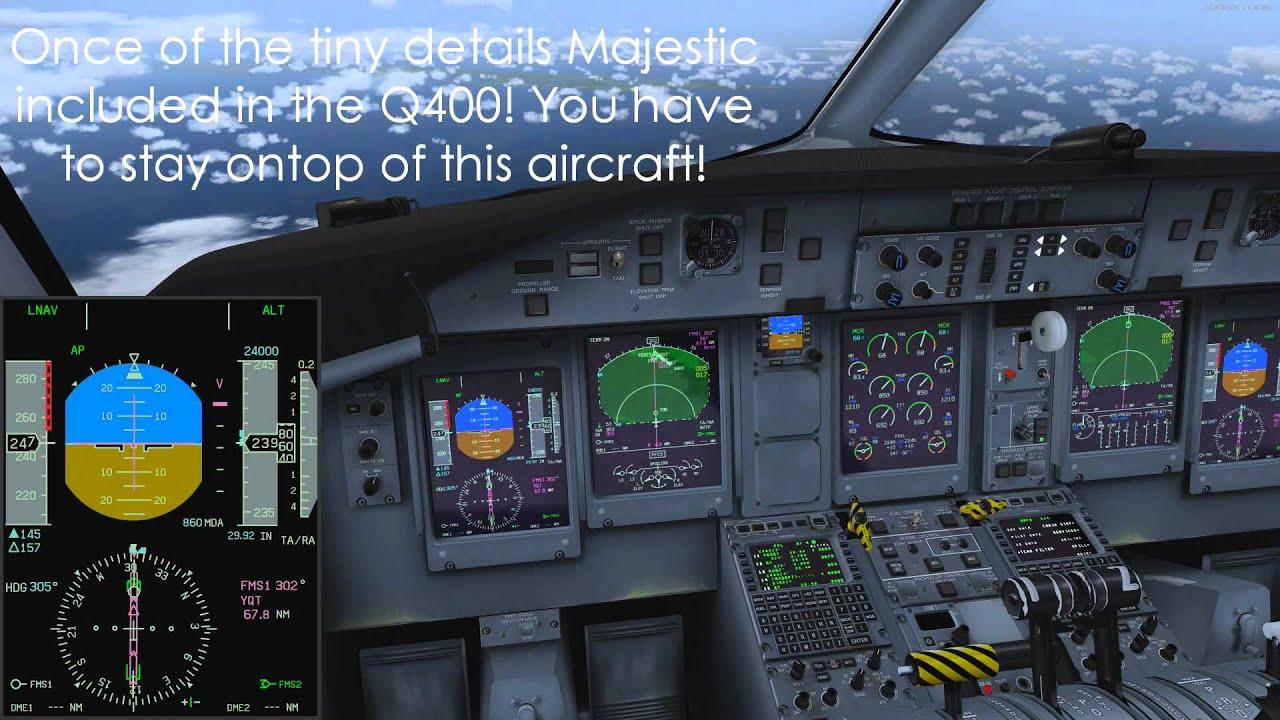 Majestic Q400 Tutorial - Decent Prep, Decent, and Landing - Part #4