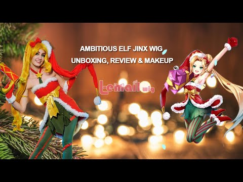 Ambitious Elf Jinx Cosplay Wig Unboxing, Review & Makeup Tutorial