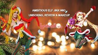 Ambitious Elf Jinx Cosplay Wig Unboxing, Review & Makeup Tutorial