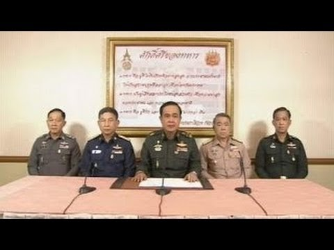 Thai Military Seizes Power In Coup D'etat - General Prayut Chan-O-Cha's TV Statement!!!