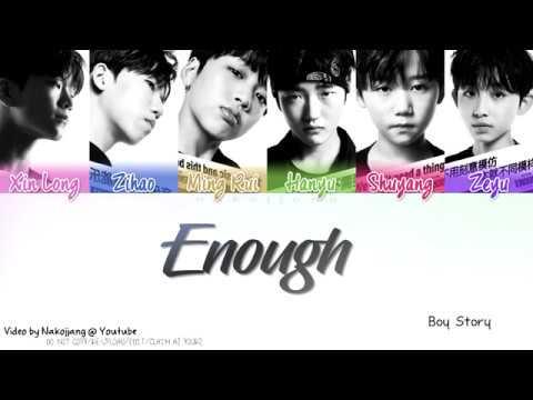 BOY STORY - Enough (Color Coded Lyrics Chinese/Pinyin/Eng/Han/한국 가사)