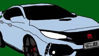 2017 Honda Civic Type R, Car Drawing