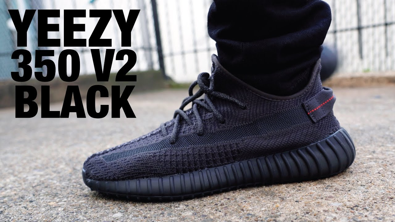 best loved 9081f 145cc Adidas YEEZY Boost 350 V2 Black Non Reflective REVIEW & On FEET