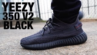 Adidas YEEZY Boost 350 V2 Black Non Reflective REVIEW & On FEET