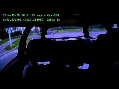 Armix DVR Cam-960 GPS, съемка вечером