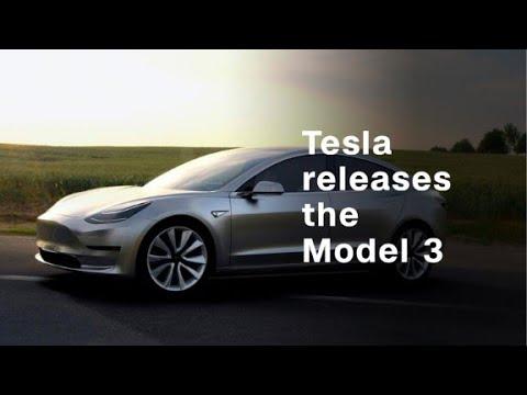 Tesla releases Model 3 - YouTube