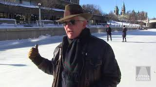 Skating the Rideau Canal in a kilt for Sir John A. Och aye