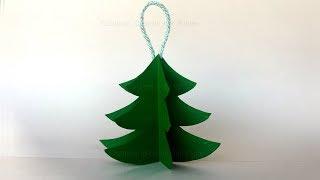 Basteln für Weihnachten 🎄 Weihnachtsbaum falten als DIY Weihnachtsdeko. Weihnachtsbasteln mit Papier