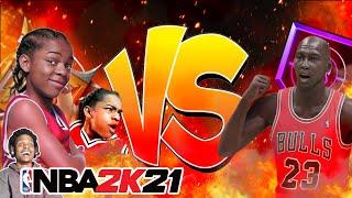 LIKE MIKE IN NBA 2K21 NEXT GEN!! CALVIN CAMBRIDGE vs MICHAEL JORDAN!!
