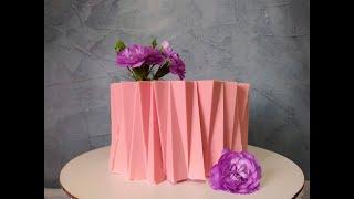 Кремовый торт в стиле ОРИГАМИ