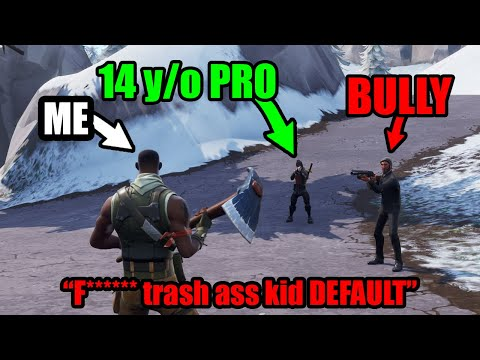 I Hired A Fortnite KID PRO To Destroy Playground Fill BULLIES