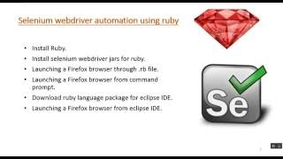 Beginners guide for Selenium webdriver using ruby - Session 1(Ruby and Selenium setup).