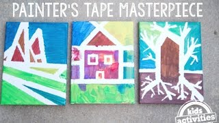 Masterpieces with Painter's Tape -- Easy Painting for Preschoolers