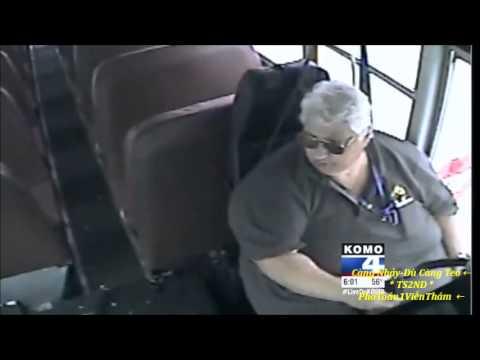 Video shows violent school bus crash in Tacoma, Washington.