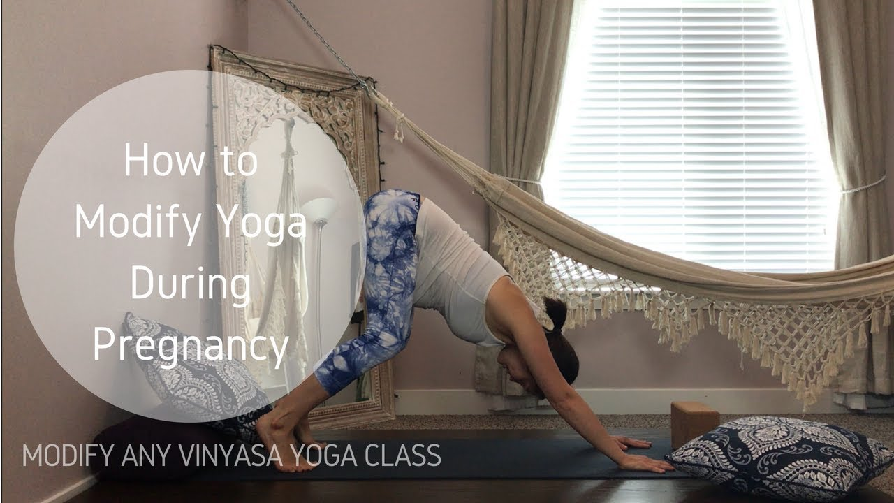 Yoga During Pregnancy (Prenatal Yoga Modifications) - YouTube